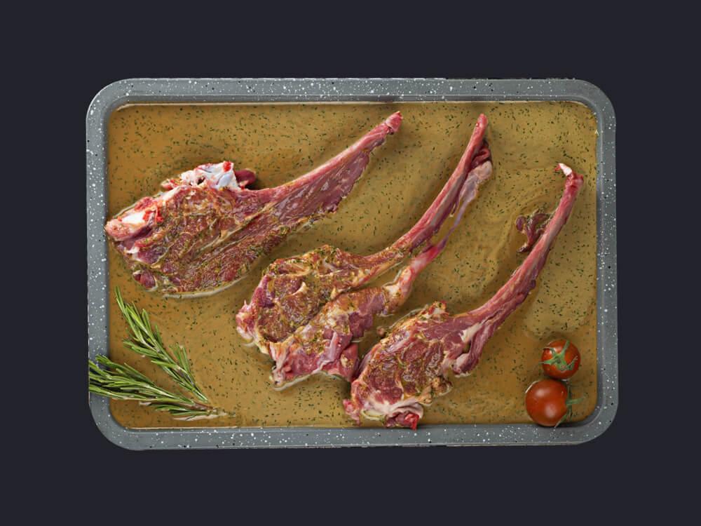 Marinated Lamb Ribs for BBQ (500g)